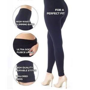 Women's Curves - Fleece Lined Leggings Navy Blue